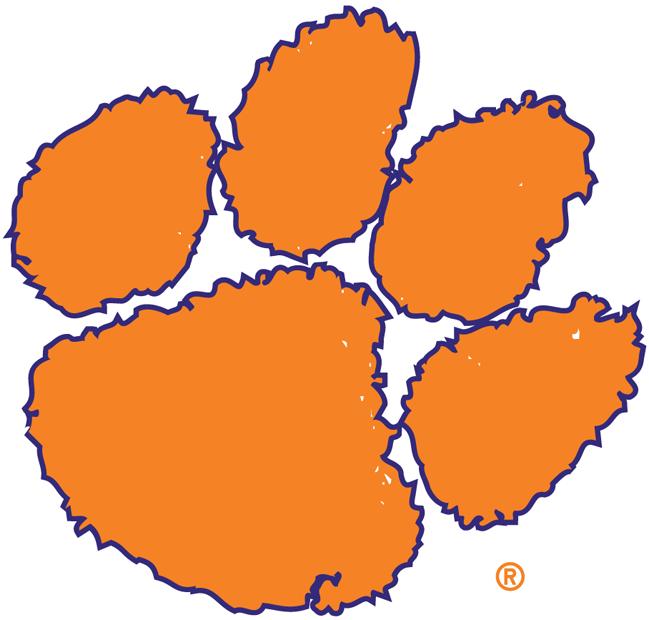 Clemson tigers logo paw clipart.