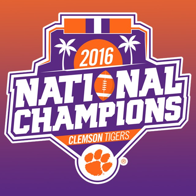 2016 NATIONAL CHAMPIONSHIP DECAL.
