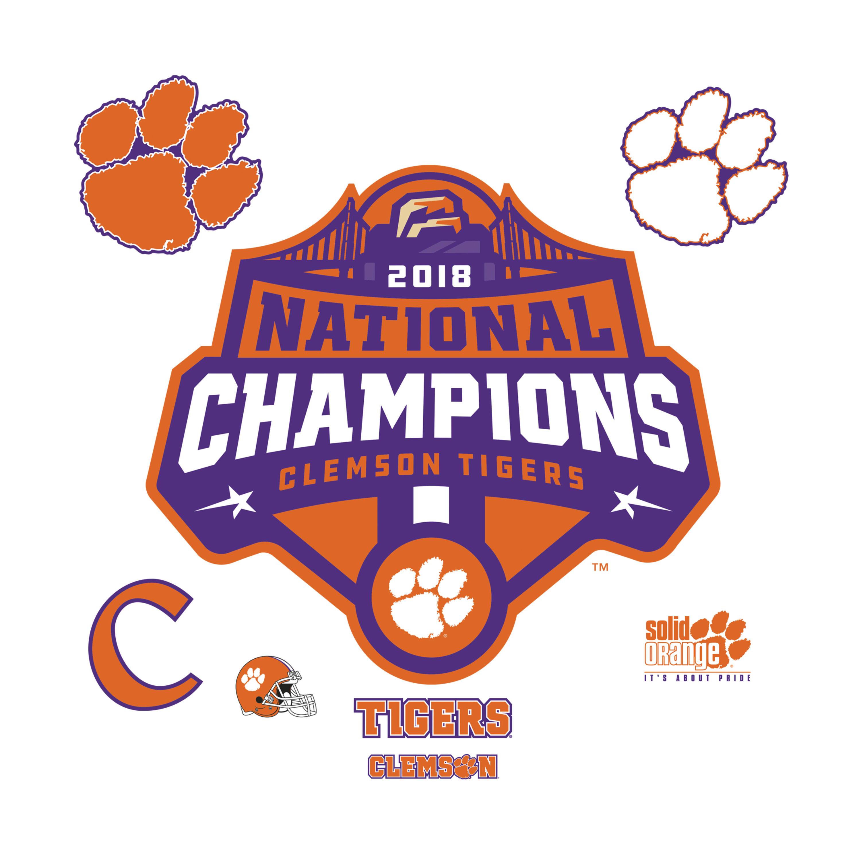 Clemson Tigers: 2018 Football Champions Logo.