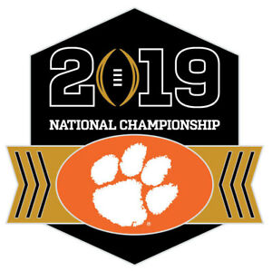 Details about Official 2019 College Football National Championship Game Pin  Clemson Tigers.