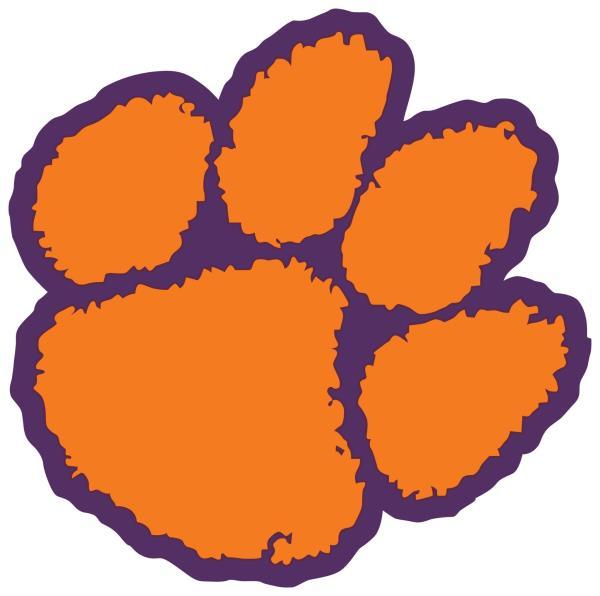 Details about Clemson Tigers Paw Logo Vinyl Decal / Sticker 5 Sizes!!!.