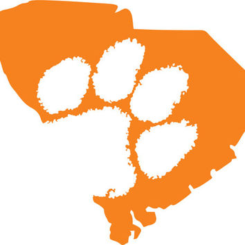 Clemson Tigers SC outline Sticker ~ from TwangBoutiquedotcom on.