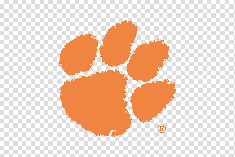 Pet paw logo, Clemson Tigers football Clemson University.