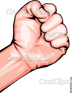 Clenched fist Vector Clip art.