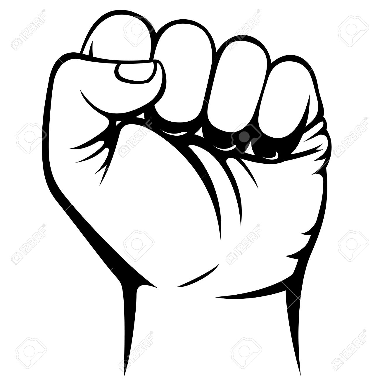 Clenched fist clipart free.
