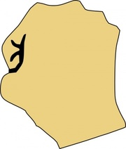 Fist Clenched Clip Art, Vector Fist Clenched.