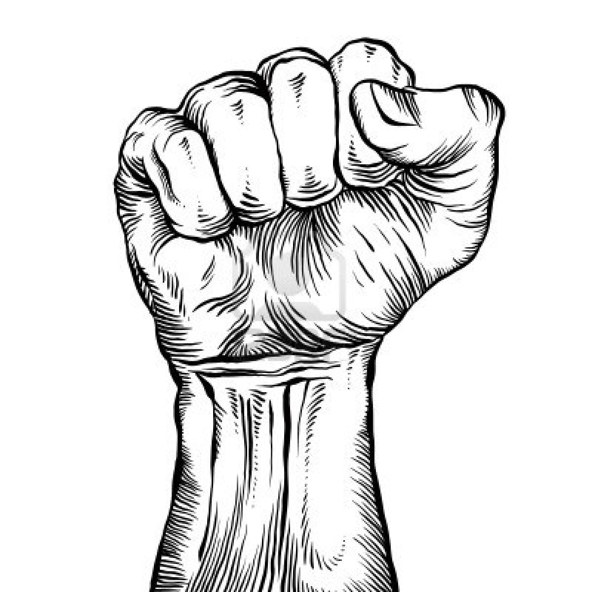 Clenched fist clipart.