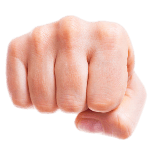 Clenched Fist Forward transparent PNG.
