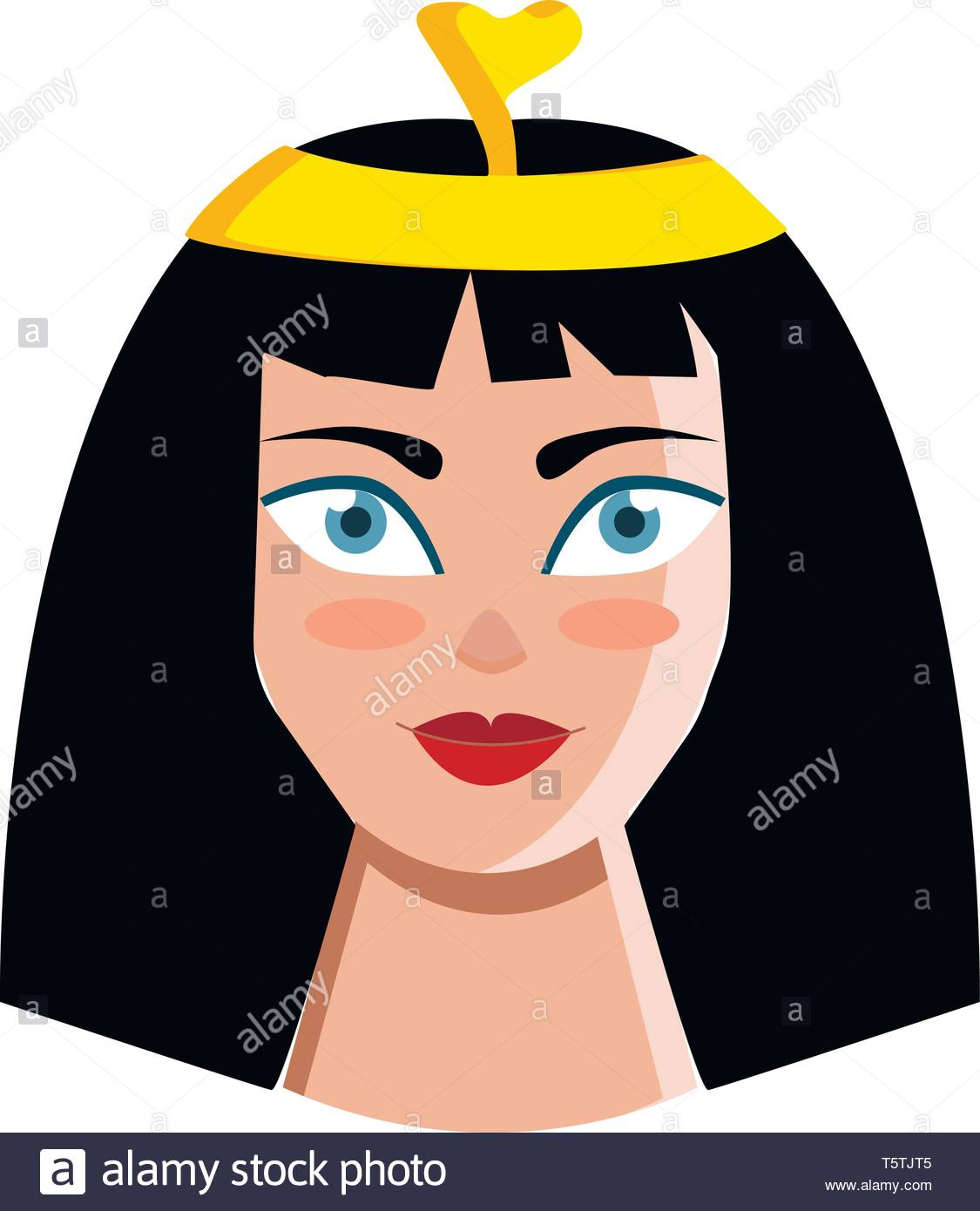 Clipart of queen Cleopatra vector or color illustration Stock Vector.