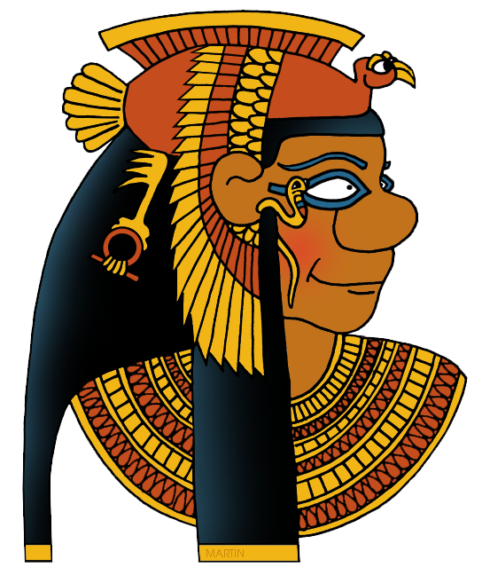 Free Ancient Egypt Clip Art by Phillip Martin, Cleopatra.