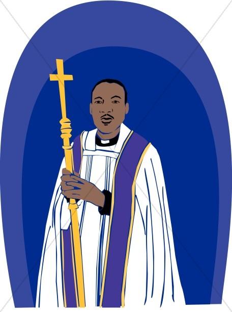 Catholic Priest Preaching Clipart.