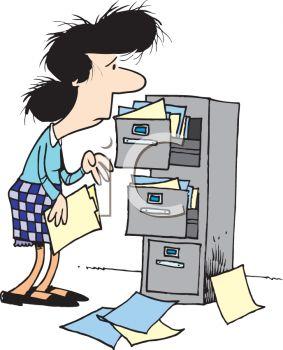 Office clerk clipart.