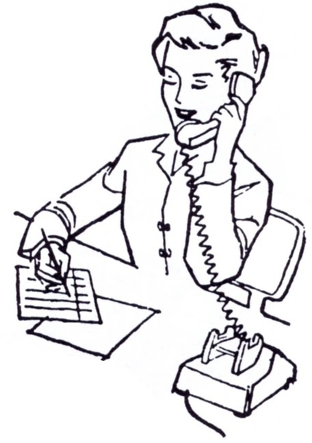 Administrative office school clipart.