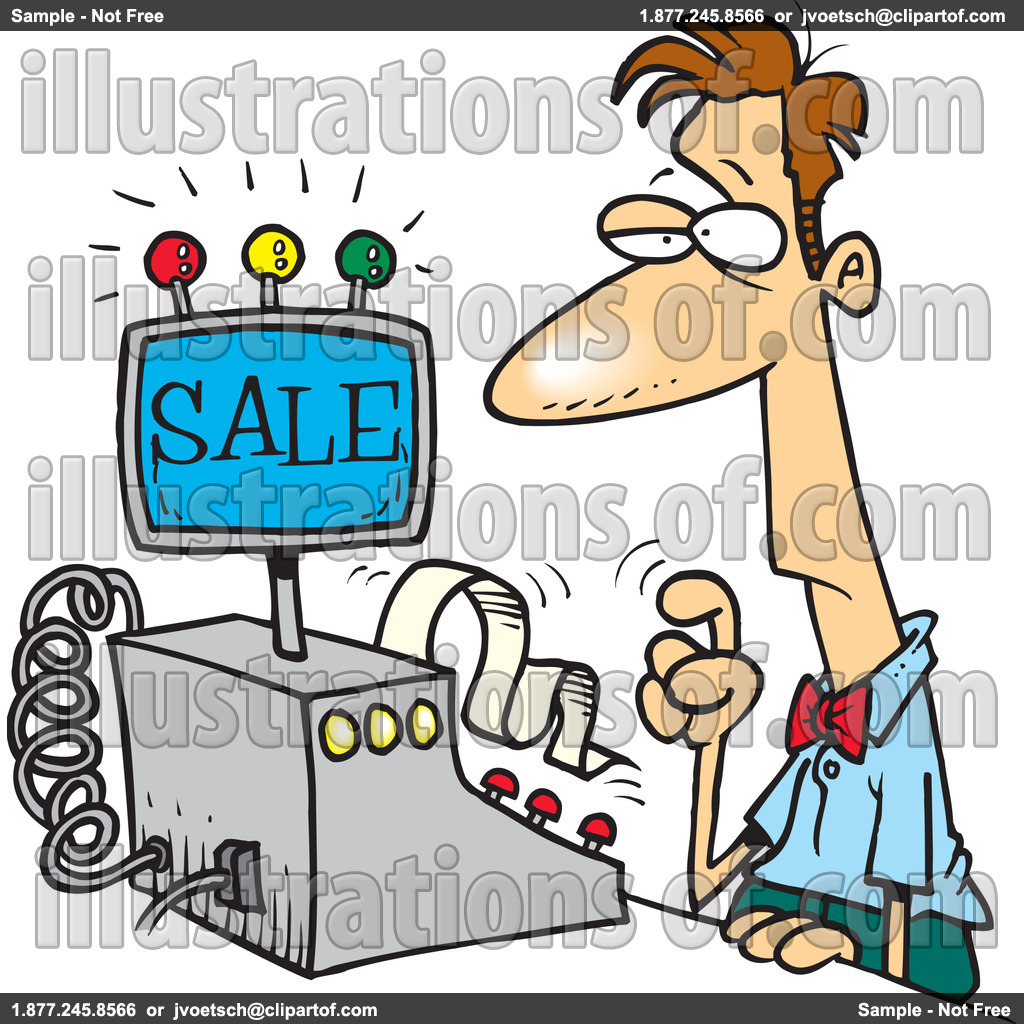 Clerk Clipart Illustration.