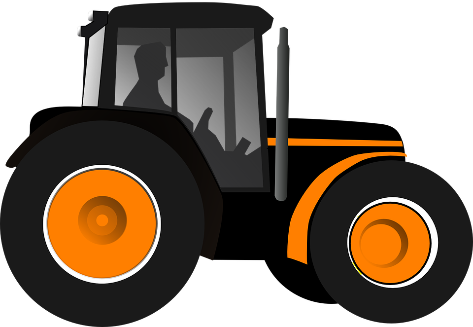 Free vector graphic: Tractor, Agriculture, Machinery.