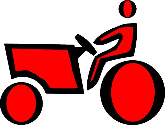 Free vector graphic: Farmer, Tractor, Farm.
