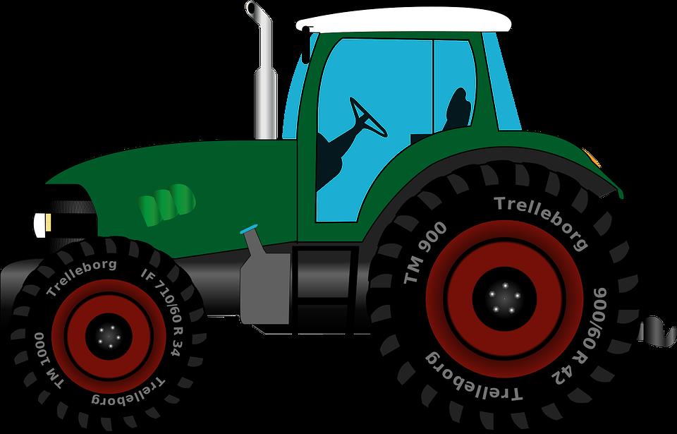 Free vector graphic: Tractor, Tug, Tractors.