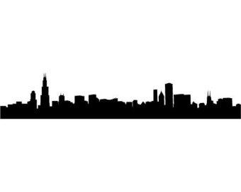 Cleveland Skyline Outline.