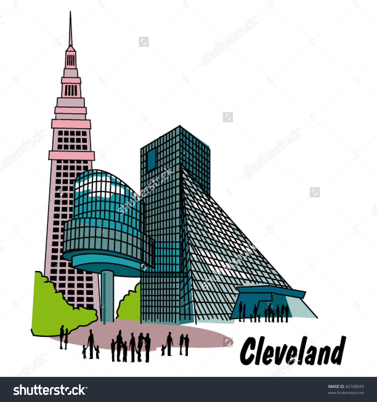 Cleveland Ohio Clip Art Stock Vector 82168543.