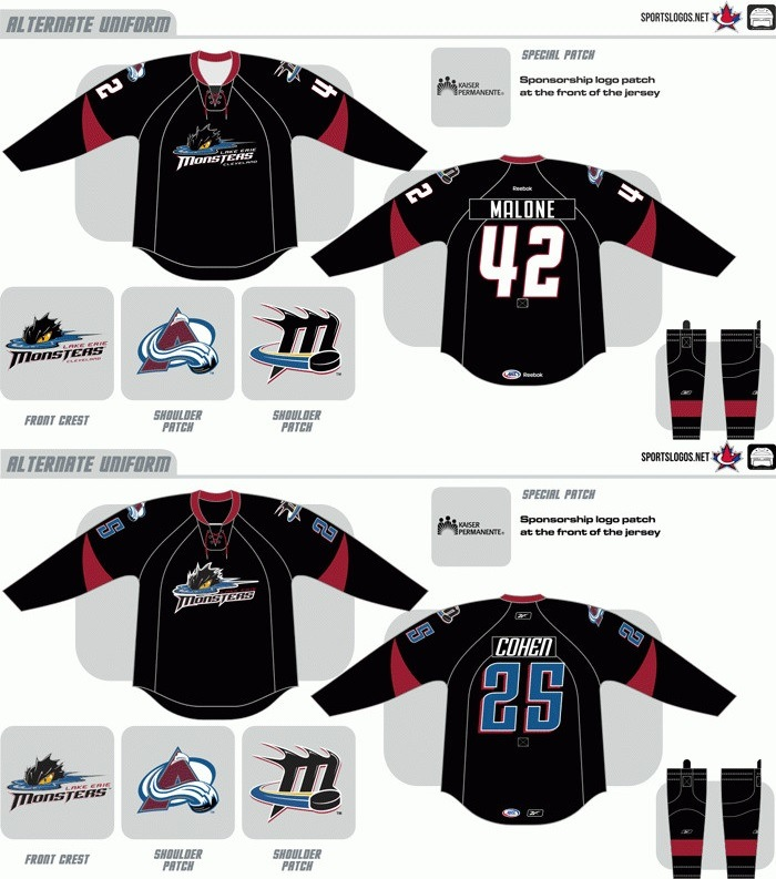 [Hot Item] Customized American Hockey League Cleveland Monsters Hockey  Jersey.