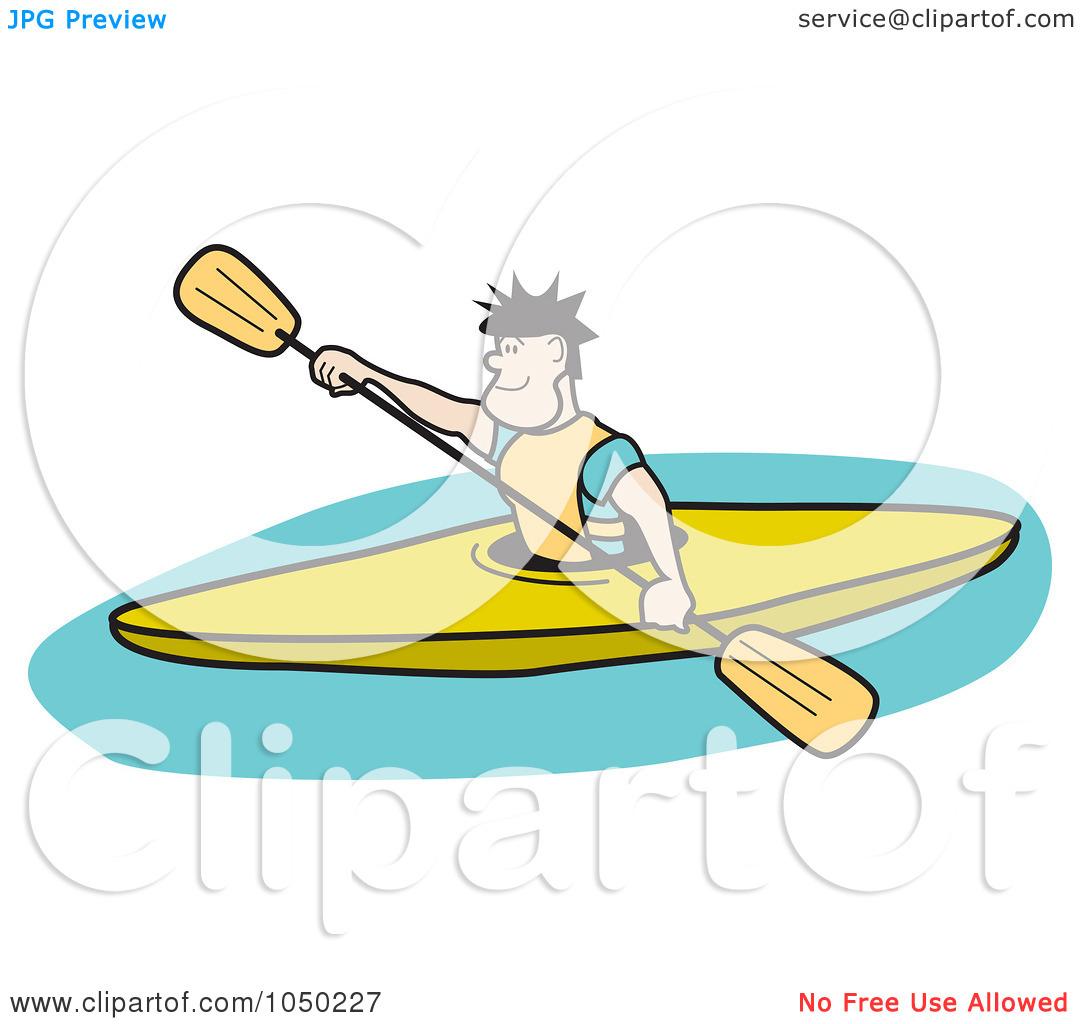 Kayak Man Clipart.