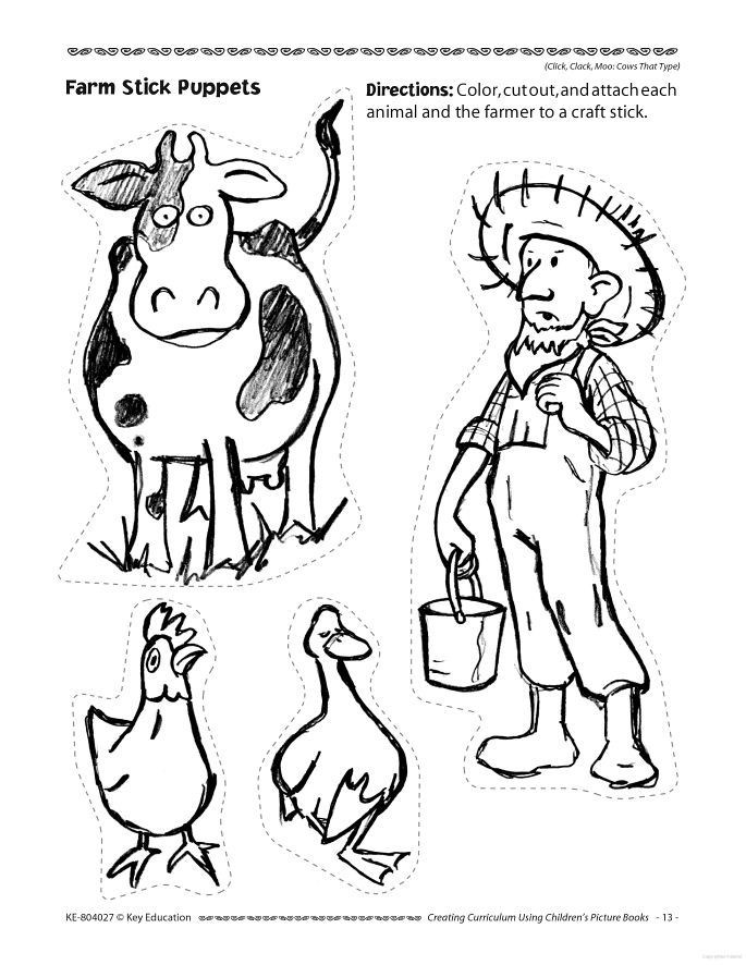 Click Clack Moo Cows That Type Coloring Pages.