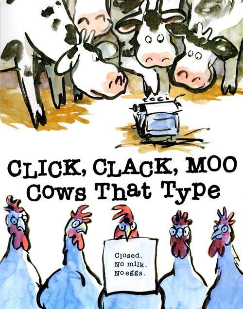 Click clack moo clipart.