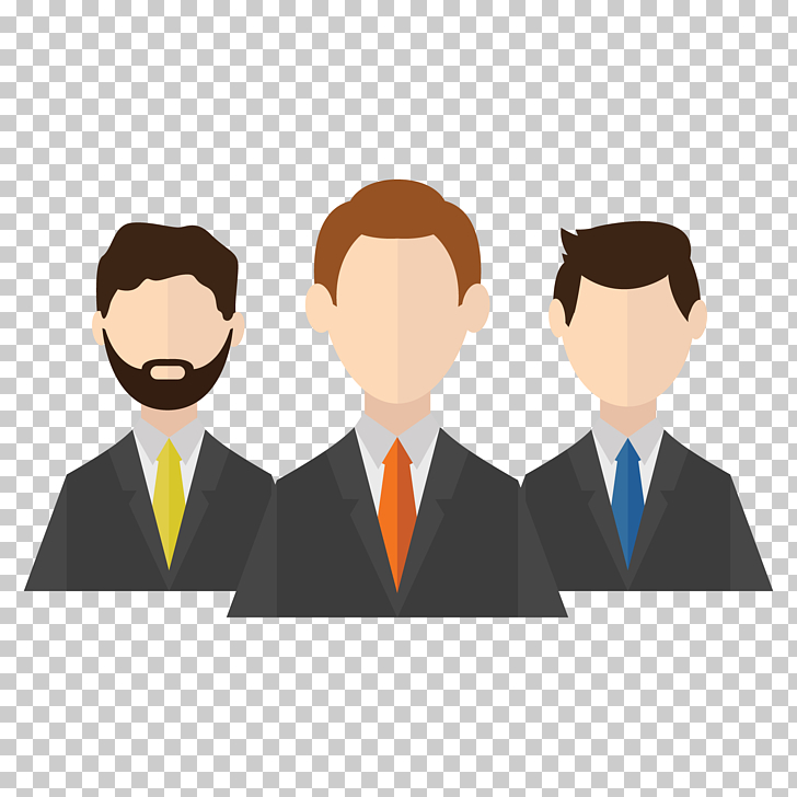 Client Icon, Businessman icon design, three dressed man PNG.