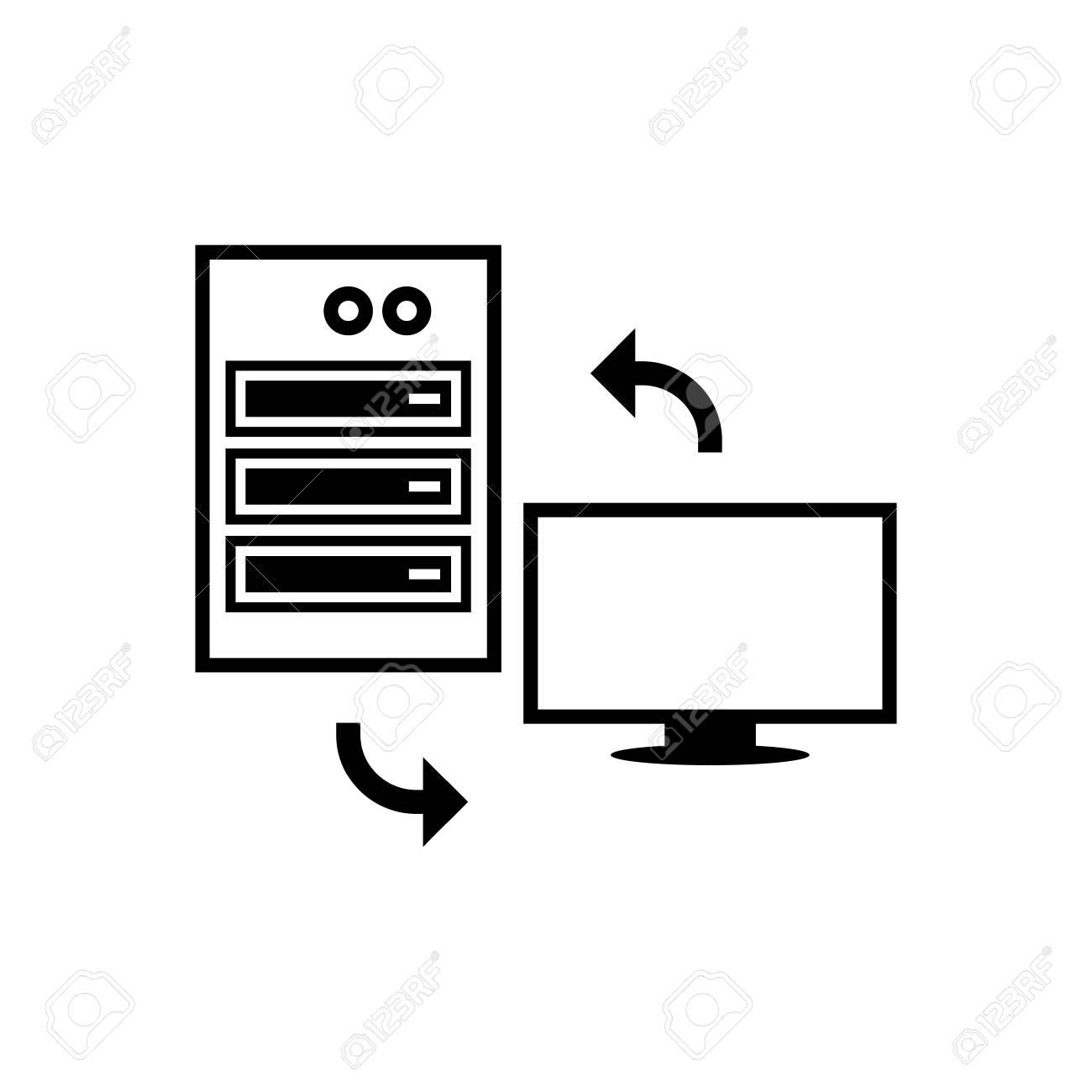 Server client exchange vector icon.