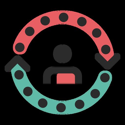 Icono de color del ciclo de cliente.