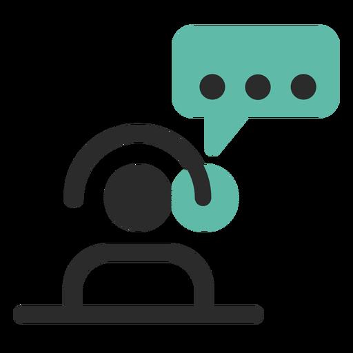Icono de contacto de atención al cliente.