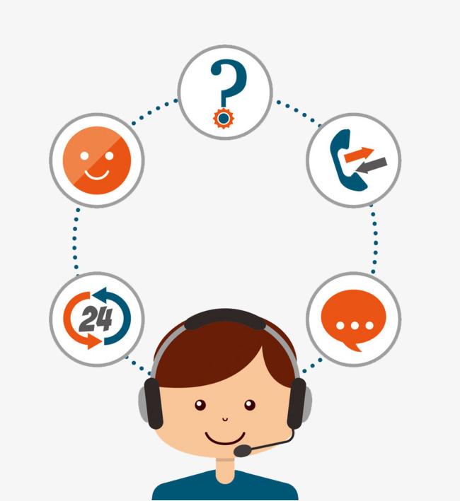 Customer Service Hotline, Twenty Four Hours, Consult Now, Service.