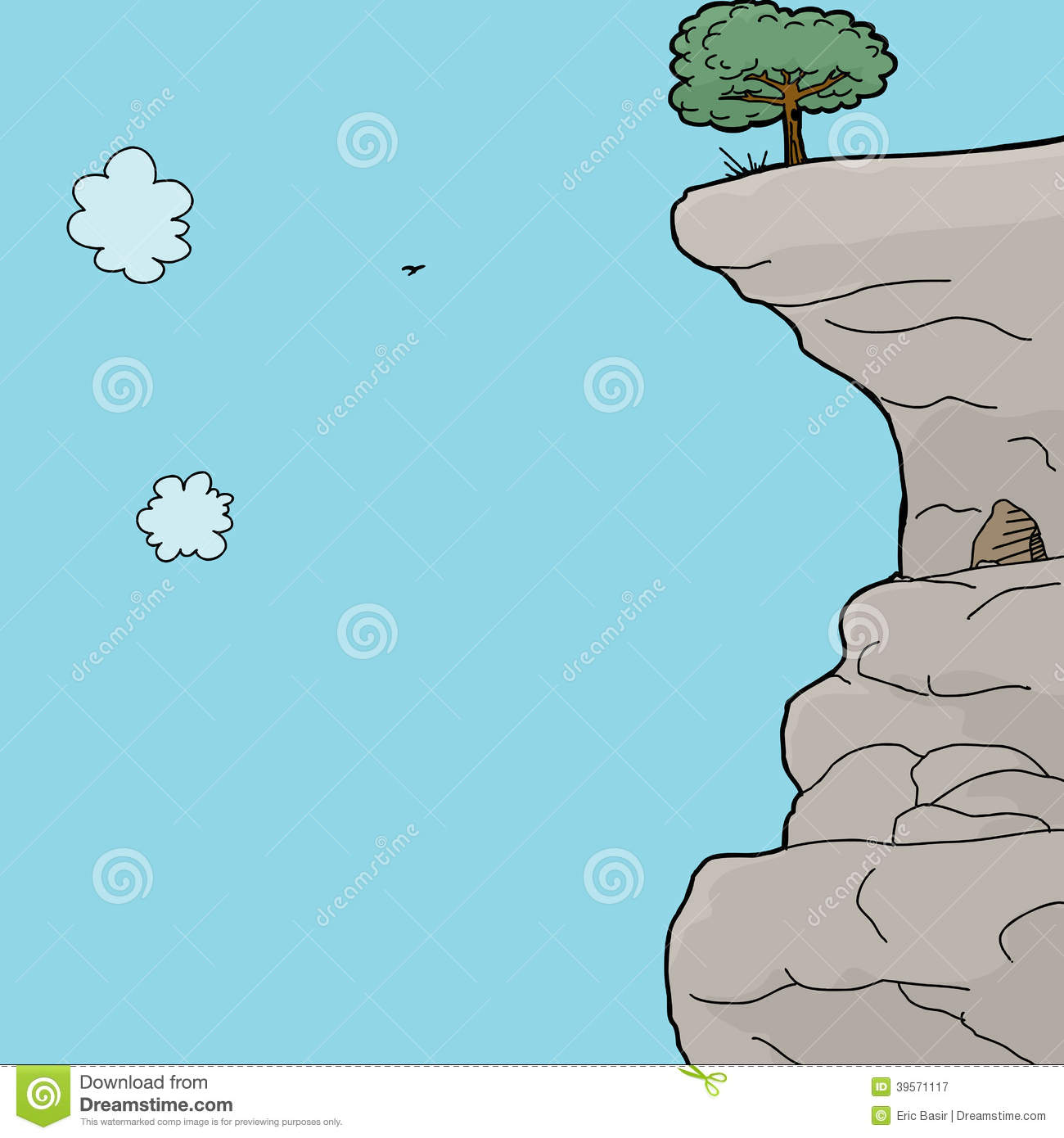 Mountain cliff clipart.