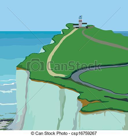 Ocean cliff clipart.