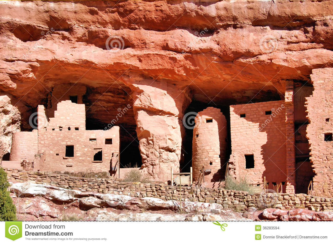 Cliff Dwelling Stock Images.