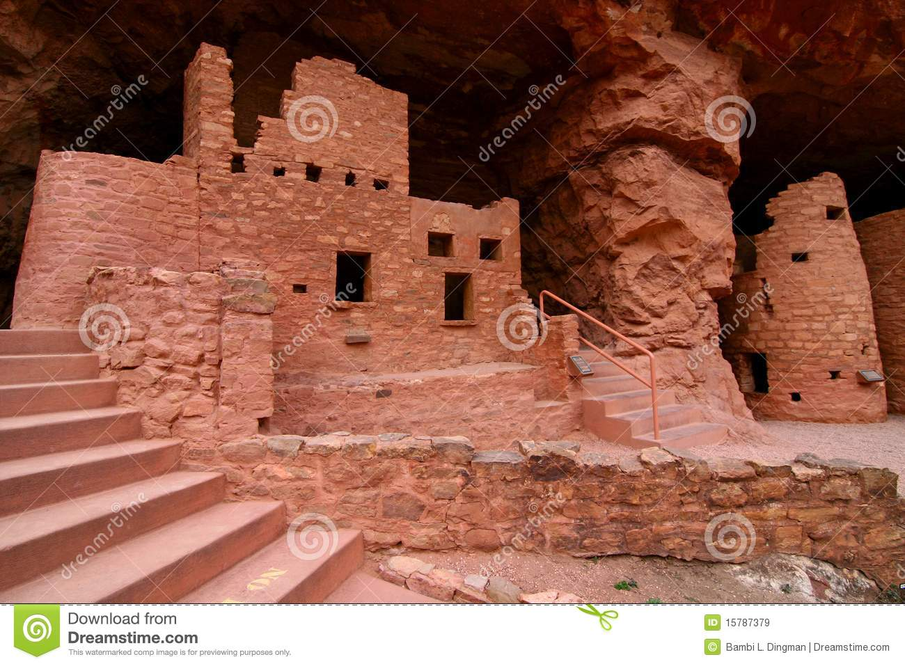Manitou Cliff Dwellings Royalty Free Stock Images.