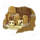 A Beka Book :: Clip Art :: Cliff Dwellings.
