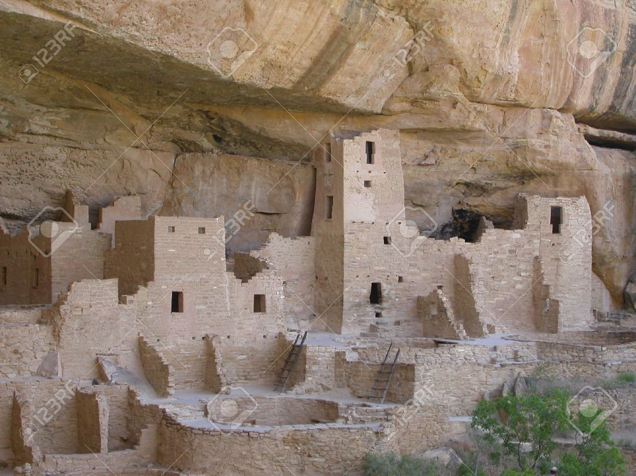 Ancient Cliff Dwellings Of Mesa Verde Stock Photo, Picture And.