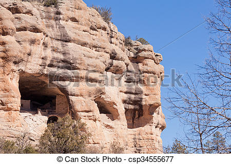 Picture of National Monument Gila Cliff Dwellings New Mexico.