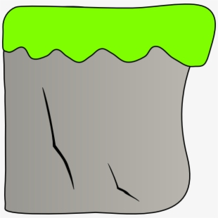 How To Set Use Cliff With Grass Clipart , Png Download.