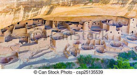 Stock Photos of Cliff Palace, Mesa Verde.