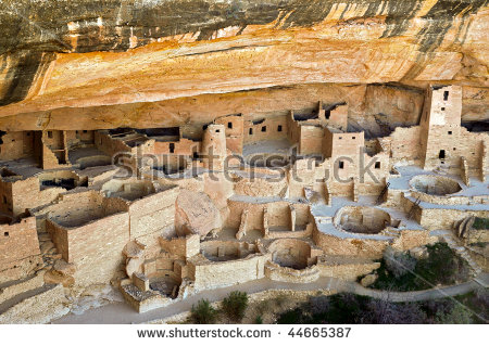 Cliff Palace Native American Indian Ruins Stock Photo 65080903.