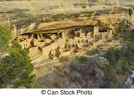 Stock Photos of Cliff Palace in Mesa Verde National Park, Colorado.