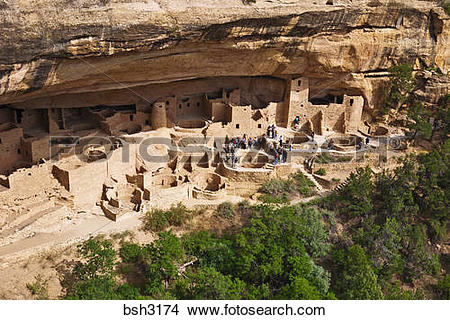 Stock Photo of Cliff Palace Ruin, Mesa Verde National Park.