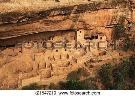 Stock Photography of Mesa Verde.