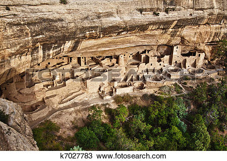 Stock Photo of Cliff Palace in Mesa Verde National Park, Colorado.