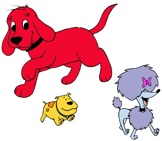 Clifford the Big Red Dog Clip Art Images.