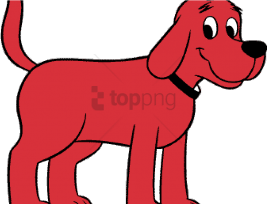 clifford the big red dog PNG image with transparent background.