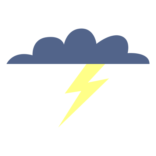 Stormy weather cloud icon.