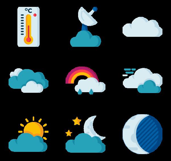 50 clima packs de iconos.